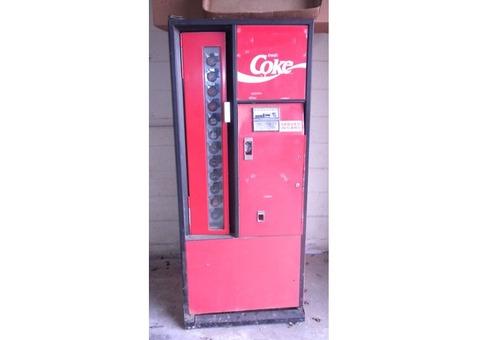 1970 COKE vending machine, clean, solid, must see!